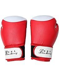 guantes de boxeo adulto/Los niños formación guantes de boxeo/ asaltos de combate Sanda profesionalesPU brass knuckles-rojo