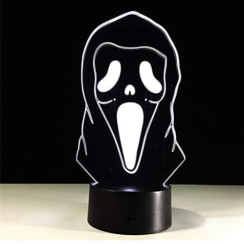 Halloween Maske Llusion Lampe 3D Led Bunte Gradienten Atmosphäre Lampe Kinder Schlafzimmer Dekoration Romantische Moderne ()