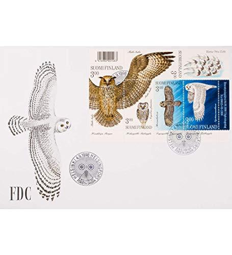 Goldhahn Finnland Block 19 FDC Ersttagsbrief Eulen Briefmarken für Sammler -