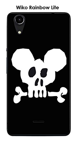 Coque Wiko Rainbow Lite design Mickey Skull