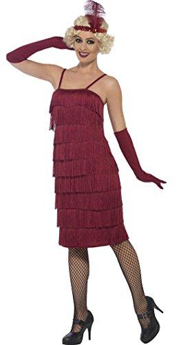 Cabaret S Kostüm 1920 - Luxuspiraten - Charleston Flapper Kostüm für Damen, S, Bordeaux
