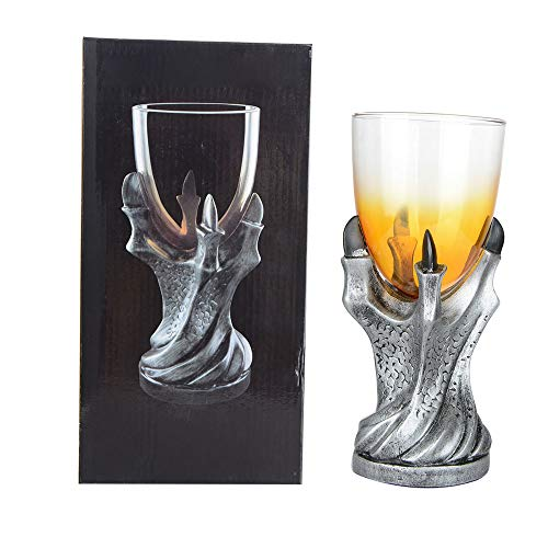 PovKeever Gothic Dragon Claw Kelch Edelstahl Harz Tasse Wein Glas Cocktail Halloween Party...