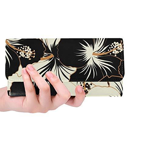 Einzigartige benutzerdefinierte abstrakte ethnische Stammes-Frauen Trifold Brieftasche Lange Geldbörse Kreditkarteninhaber Fall Handtasche -