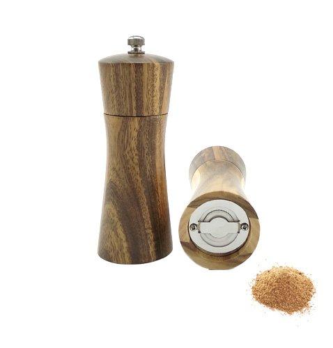 FALKENBACH Salz- & Pfeffermühle aus Akazienholz mit Keramikmahlwerk (Mühlenset)