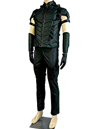 Jeylu Green Arrow Season 4 Leather Cosplay (No Quiver) pour les hommes l'europe Taille