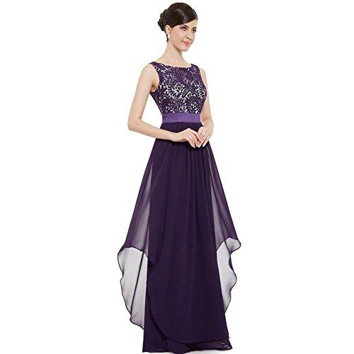 WintCO Damen Elegantes Langes Abendkleid Rueckenfreie Maxikleid Bodenlang Partykleid Cocktailkleid...