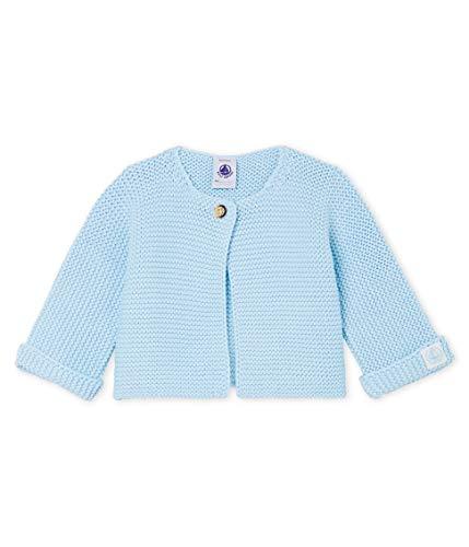 Petit Bateau Baby-Jungen Cardigan_4966302 Strickjacke, Blau (Toudou 02), 50 (Herstellergröße: N 50cm)