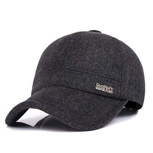 WYKDA Feel Baseball Cap Russia Hats Warm mit Innenseite und Earflaps Herren Caps Vintage Baseball-Mütze Hat Earflap Cap
