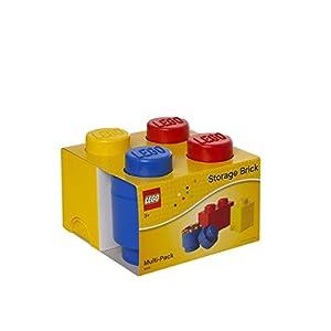 Room Copenhagen Mattoncino Lego Multipack S, contenitori impilabili, Set di 3 Pezzi, Multicolore, One Size, 3 unità LEGO