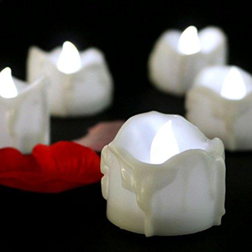 Sharplace 5 / 12 Piezas Vela Eléctrica sin Llama de Luz con Pilas Bombilla Parpadeante Decoración Casera - 5 Piezas, 40x32mm