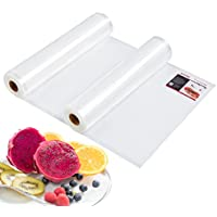 Aicok Vacuum Food Sealer rolls, 2 Pack 28cmx 5m( Total 10m ) Vacuum Sealer Bags Embossed Commercial Grade, for All Clamp Style Vacuum Sealers, Sous Vide
