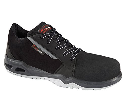 Mts Chaussures De Sécurité Au Travail Mod Curtis S3 Src Hi-ci Super Léger Hyper Flex - Métal Gratuit Gris / Noir