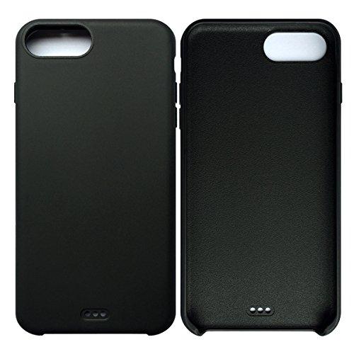 iPhone 7 Plus / iPhone 8 Plus Case Tasche HandyHülle Ultra-dünne Leder-Muster Slim Silikon Case Leicht TPU Ultra Thin Soft Stoßfest Shockproof Staubdicht Schutzhülle Covers Sleeve Leder für iPhone 7 P Schwarz
