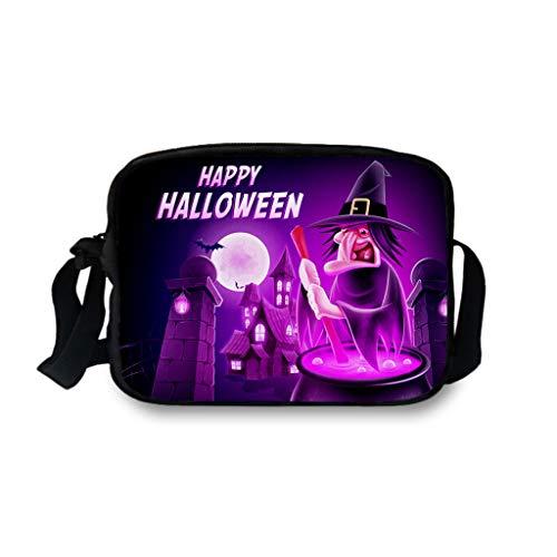 Prom 80 Kostüm Männer - Lomelomme Halloween Taschen Lustig Frauen und Männer Einzelne Umhängetaschen Erwachsener Kürbis Kuriertaschen Unisex Umhängetasche Hüfttasche Freizeittasche Schultasche