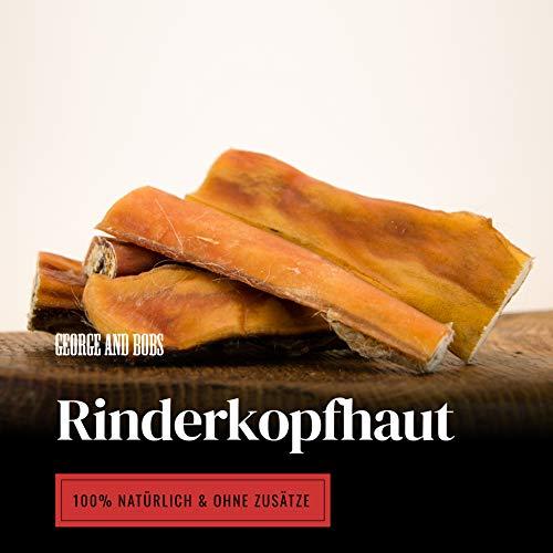 George & Bobs Rinderkopfhaut 1000g | 12cm Stücke | aus Deutschland | 100% Rind | Premium Kausnack | Ideale Zahnreinigung