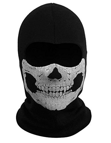 whobabe Ghosts Hoods Schädel Skelett Kopf Maske Stirnbändern (Call Of Duty Kostüm)