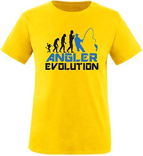 EZYshirt® Angler Evolution Herren Rundhals T-Shirt Gelb/Schwarz/Blau