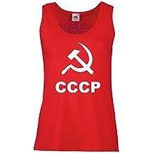 Camisetas sin Mangas para Mujer Hoz y martillo - URSS - СССР Moscú - diseño político