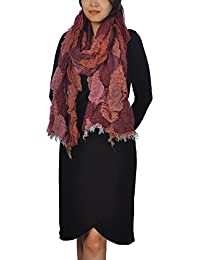 Women Ladies Long Chunky Bubble Scarf Fashion Lovely Women Scarves (Natural Red)