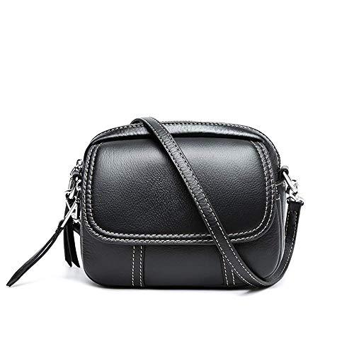 IRVING Frauen Crossbody Umhängetasche Kleine Sattel Geldbörse und Tote Schulter Handtaschen (Color : Black) - Tote Sattel