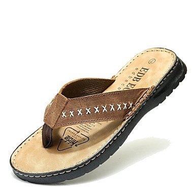 Sandalen Women's Boots Winter   PU Casual Wedge Heel Feather Sandals Pantoffeln US7 / EU39 / UK6 / CN39