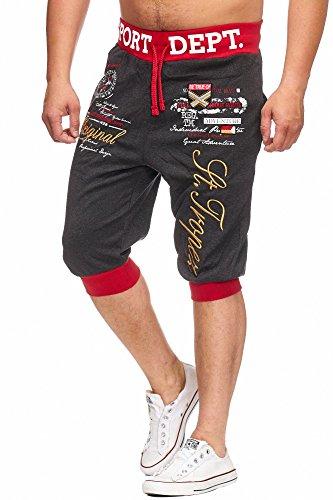 Bermuda St. Tropez (L, Schwarz/rot) (Herren Shorts Sweat)