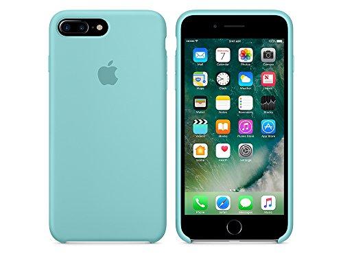 Apple MMYJ2ZM/A iPhone 7 Plus Leather Hülle schwarz meerblau