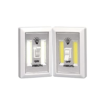 Battery Operated LED Night lights, COB LED Cordless Light Switch, Under Cabinet, Shelf, Closet, Nightlight & Kitchen RV & Boat (2-pack) ­ - cheap UK light store.