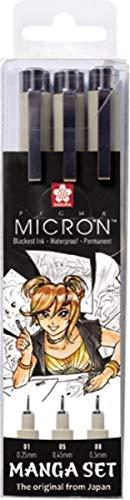 Sakura Manga 3 zwarte fineliners