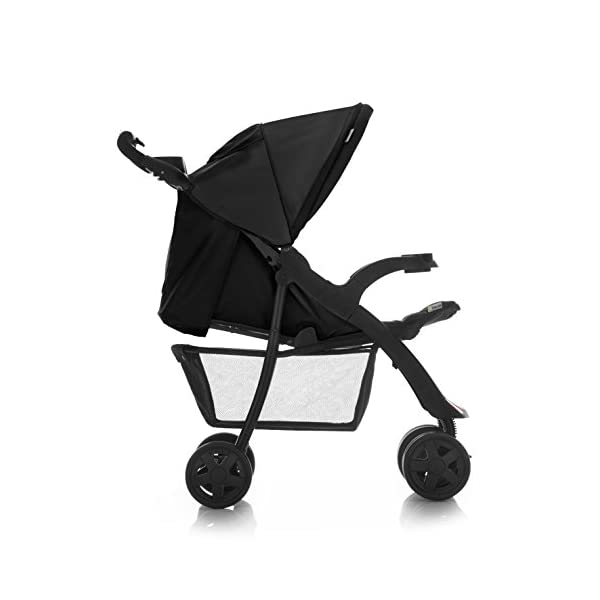 Hauck Shopper Neo II One Hand Fold 4 Wheel Pushchair with Raincover, Black, From Birth to 15 Kg Hauck Fold in seconds with one hand Comfortable seat with lying position and adjustable footrest Includes 2 practical bottle trays 7