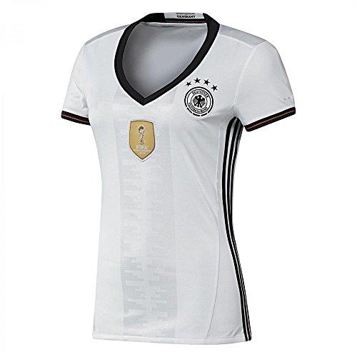 Preisvergleich Produktbild 2016 Damen UEFA Euro Cup Germany blanko DIY Name Home Fußball Trikot Vier Sterne in Weiß Medium Weiß - weiß
