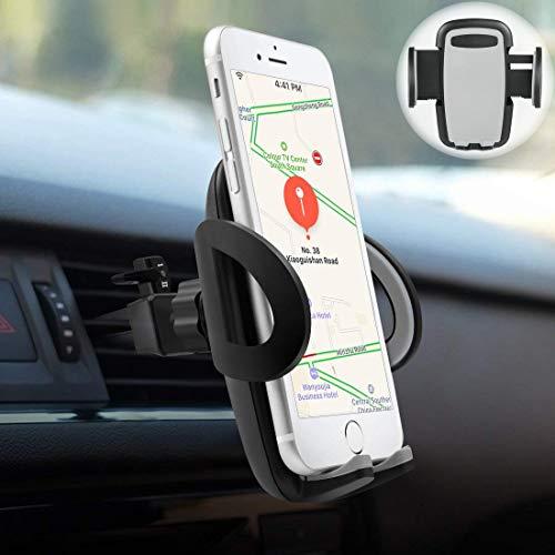 Supporto Auto Smartphone, POOPHUNS Porta Cellulare Auto Bocchette Aria Regolabile e 360 Gradi di Rotazione, Supporto Auto Universale, Porta Telefono Antiscivolo e Stab