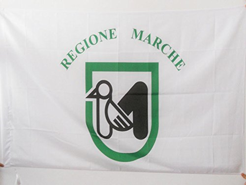 AZ FLAG Flagge Marken 90x60cm - Marche IN Italien Fahne 60 x 90 cm Scheide für Mast - flaggen Top Qualität