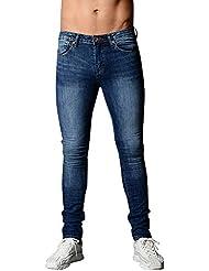 VPASS Pantalones Vaqueros para Hombre,Pantalones Casuales Solid Color Moda Deportivos Running Pants Skinny Elásticos
