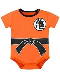 b10bedd698b Body de Manga Corta Verano Bebé Recién Nacido Bebés Niños Niñas Carta  Impresión Mameluco Trajes Ropa Mono Niño Disfraz Pijama Blanco 0…