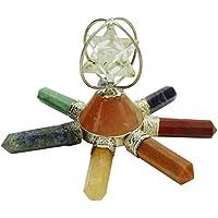 Harmonize Septiembre generador de energía Chakra Spinning Cuarzo Piedras preciosas Merkaba espirituales Reiki