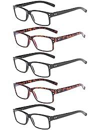 78c168afb5 Eyekepper lot de 5 lunettes de lecture de qualité lecteurs de charnière à  ressort pour la