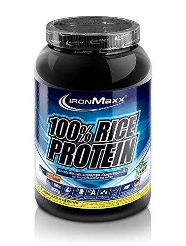Ironmaxx 100 prozent Rice Protein - Haselnuss, 1er Pack (1 x 0,9 kg)