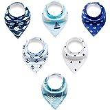 mSure-Baberos para bebés Bandana,6-Pack absorbencia estupenda-Baberos bandana baba 100% algodón