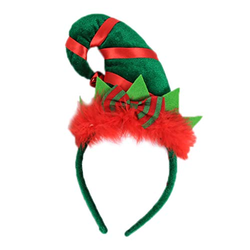 Erwachsene Bell Für Kostüm - Kinder Erwachsene Weihnachten Santa Elf Hut Haarreif Verschluss Kontrast Farbe Fluffy Bowknot Stirnband Mit Jingle Bell Party Cosplay Kostüm