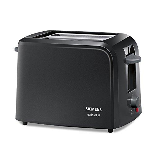 Siemens TT3A0103 Kompakt Toaster Series 300, schwarz