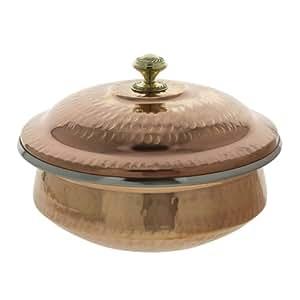 Indian Copper Serveware service Soupière bol avec couvercle 1 Litre