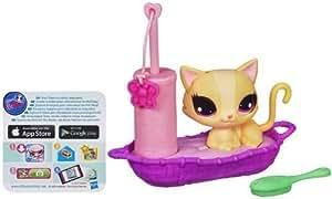 Littlest PetShop Anim'Action et Accessoire Playful Pets Cat in a Cat Bed Hasbro