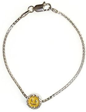 925-er Sterling Silber Schmuck Set Armband und Charm SONNE Gelb Mädchen