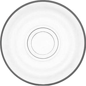 Set da 6 pezzi.Set di piatti in vetro di alta qualità 110mm piattino