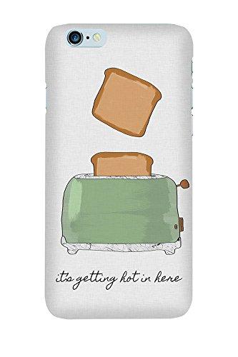 artboxONE Premium-Handyhülle iPhone 6/6S It's Getting Hot in Here - Typografie Essen & Trinken Liebe Musik - Smartphone Case mit Kunstdruck hochwertiges Handycover kreatives Design Cover von Paper Pixel Print