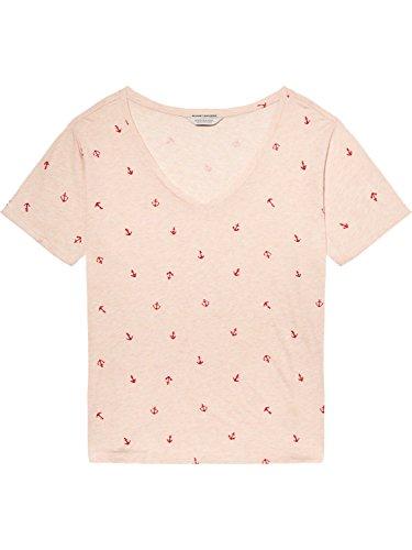 Scotch & Soda Maison Damen T-Shirt Allover Printed S/S Tee Mehrfarbig (Combo B 18)