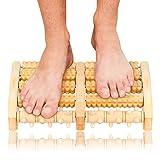 EKKONG Holz Fußroller, Fußmassageroller, Fuß Massage für Stressreduzierung, Krämpfen, Arthrose, Fußschmerzen (Type A)