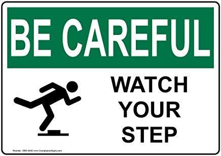 Etiqueta de Vinilo OSHA BE Careful