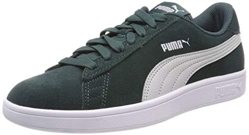 Puma Unisex-Kinder Smash v2 SD Jr Sneaker, Grün (Ponderosa Pine-Gray Violet-Puma White), 36 EU -